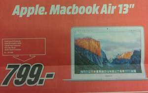 "[lokal Köln-Kalk] Mediamarkt Macbook Air 13"" 2015 (MJVE2D/A) 128GB für 799,- am 29.11."