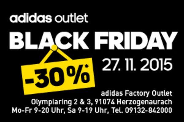 Lokal 91074 Herzogenaurach: BLACK FRIDAY im adidas outlet -30% auf Ihren Einkauf