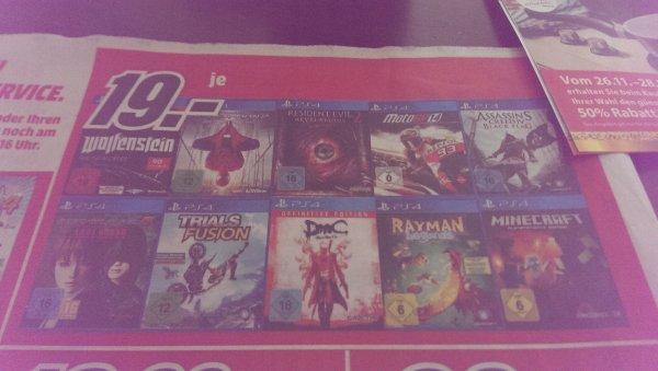 (Media Markt Heilbronn) Playstation 4 Spiele Sammeldeal
