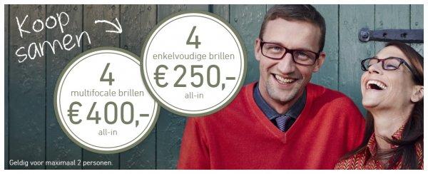 (Offline Grenzgänger NL) 4 Gleitsichtbrillen für 400 € bei Eyes and More Niederlande