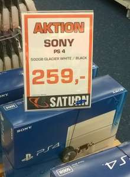 lokal Saturn Wiesbaden: Sony PS4 500GB 259€