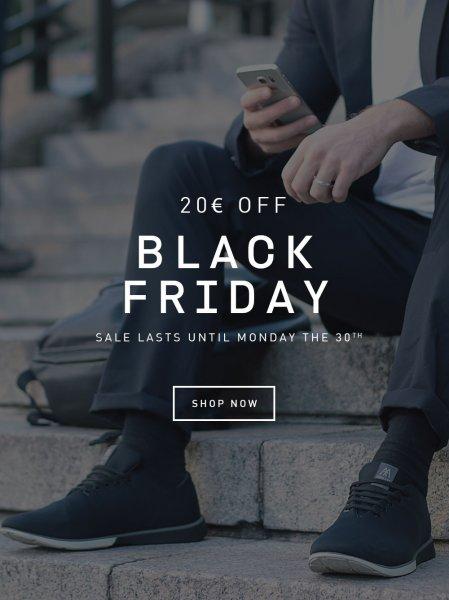 [Black Friday][Cyber Monday] muro.exe: 20 Euro Rabatt auf (anscheinend) ALLE Schuhe