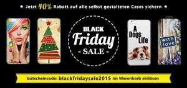 Black Friday Sale: 40% Rabatt auf Handyhüllen mir einem eigenen Design oder Foto ab 8,39€ inkl. Versand