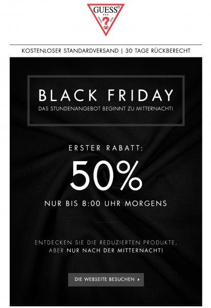 [Guess] @Black Friday | - 50 € auf Mäntel und Jacken ab 08:00 Uhr bis 16:00 Uhr