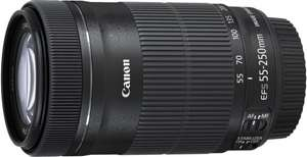 Canon Tele-Zoomobjektiv EF-S 55-250mm 1:4-5,6 IS STM (58mm Filtergewinde) schwarz @Black Friday