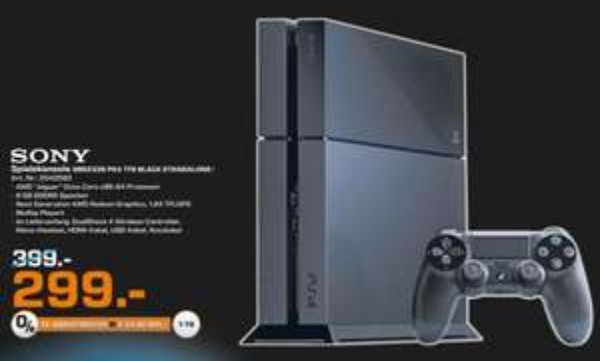Playstation 4 - 1TB - 1 Controller - Standalone Black für 299€ - Saturn Erfurt - lokal?