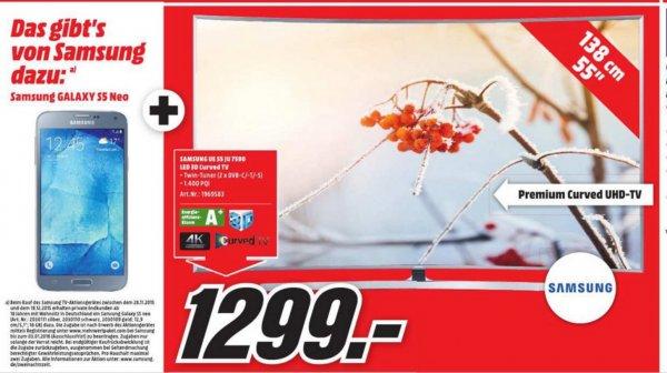 Knaller!!! UE55JU7590 für 1299,00 inkl. Galaxy S5 Neo!!! Lokal MM Köln-Kalk am 29.11.