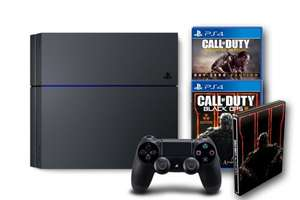 PlayStation 4 mit Call of Duty: Black Ops III - Standard inkl. Steelbook + Call of Duty: Advanced Warfare - Day Zero Edition für 333€ @ Amazon @Black Friday