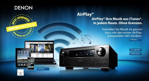 Denon: Kostenloses (sonst 49,-) AirPlay - Update verlängert bis März 2012