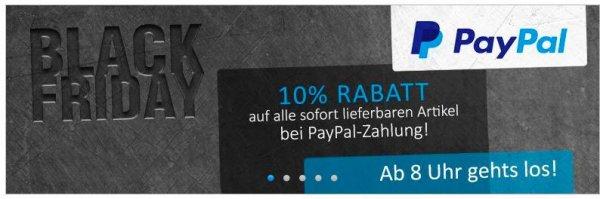 [Computeruniverse] @Black Friday : 10% Rabatt auf alles bei Zahlung mit PayPal