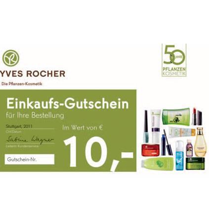 Yves Rocher: Artikel für mind. 5,- Euro bestellen + gratis Mascara + 10,- Euro Yves Rocher Gutschein - versandkostenfrei