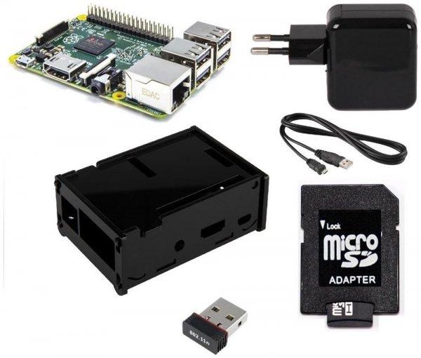 Raspberry Set / Pi 2 B + Netzteil + 8 GB SD + Gehäuse + Wlan Stick @Black Friday