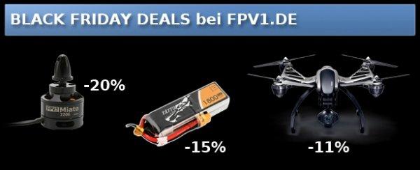 FPV1 Deals Regler, Motoren, Lipos uvm. @Black Friday