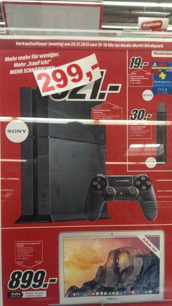 (Media Markt Magdeburg) Sony Playstation 4 500GB Schwarz für 239,20€ ! PS4
