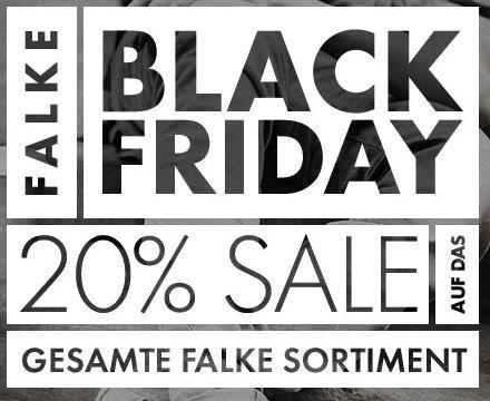 @Black Friday - FALKE 20% auf ALLES + 10 € Gutschein + 8% Qipu Cashback