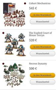 Games Workshop Black Friday Sale (z.B. Cohort Mechanicus 545€ statt ~650€)