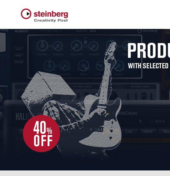 [Black Friday] Steinberg 40% auf bestimmte Software (u.a. Halion Sonic 2 für 149,60€)