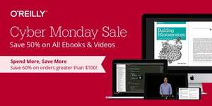 50% auf E-Books und Videos von O'Reilly @Black Friday