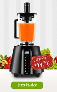@Black Friday - Klarstein Herakles Red Touch für 199 (Idealo 399 EUR) green smoothie maker / Stand­mi­xer 2 Liter
