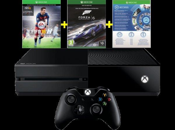 [mediamarkt.at] Xbox One 500GB inkl. FIFA 16 & Forza 6 (statt SWB) & 1 Monat EA Access --> Versand nach DE möglich @Black Friday