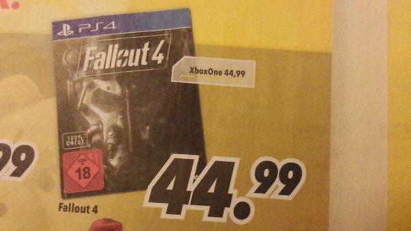 [Medimax Halle, Leißling, Merseburg] Fallout 4 für 44,99 € (PS4 und Xbox One)