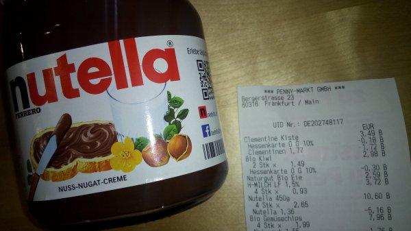 [Penny lokal, Frankfurt] Nutella 450g noch bis 28.11.2015