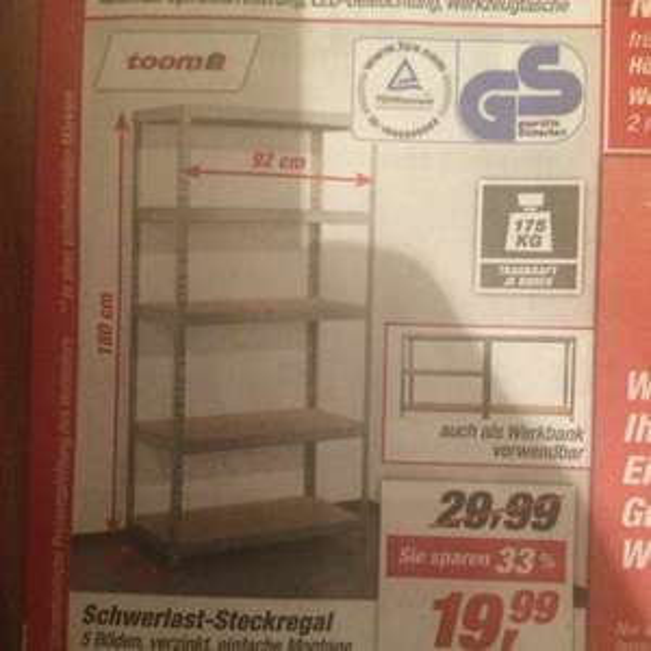 Evergreen - Schwerlastregal Toom Baumarkt