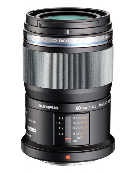 Olympus M.Zuiko Digital ED 60mm 1: 2.8 Macro für Micro Four Thirds, schwarz