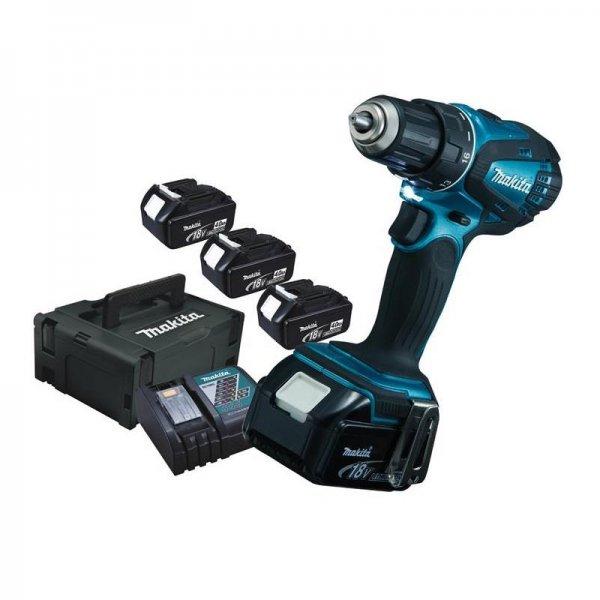 eBay WoW: Makita Akku-Bohrschrauber DDF456SP1J inkl. 3x4,0Ah Akku im MAKPAC @ 259,90 Euro inkl. Versand