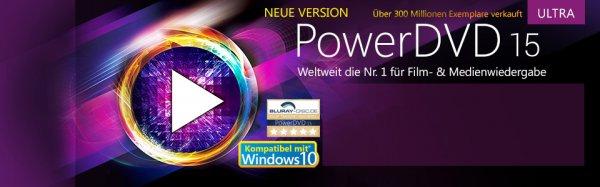 PowerDVD 15 Ultra im Cyber Monday für 64,99€ bei Cyberlink selbst