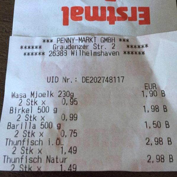 [Penny] Saupiquet Thunfisch 185gr. Dose gekauft in Wilhelmshaven (Preisfehler evtl. Bundesweit)