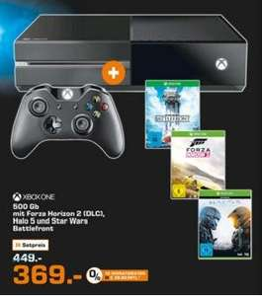 Saturn Dortmund - Xbox One 500 GB + Halo 5 Guardians + Forza Horizon 2 (DLC) + Star Wars: Battlefront - 369€