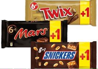 Lokal Edeka Duisburg Neudorf Snickers Mars Twix 6+1 Pack 1,39€