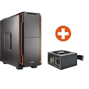 [cyberport] be quiet! Silent Base 600 Orange PC-Gehäuse + 400W System Power 7 Netzteil