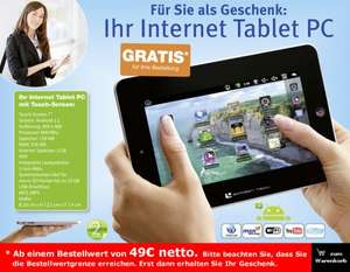 Büromaterial für 49,-€  bestellen (Netto) + Tablet PC 7 zoll gratis dazu erhalten !