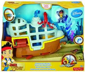 [Amazon.de-Prime] Mattel Fisher-Price BDJ02 - Jake und Nimmerland Piraten U-Boot Bucky