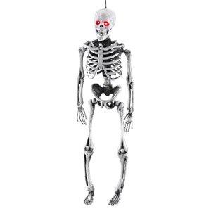 @ real Skelett hängend mit knallroten LED Augen Ca. 65cm