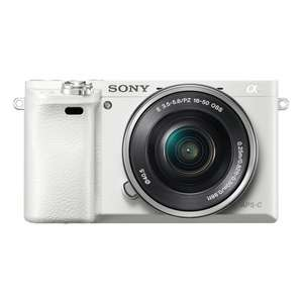 Sony Alpha 6000 Kit (inkl. SEL 16-50mm Objektiv) in weiß für 499€