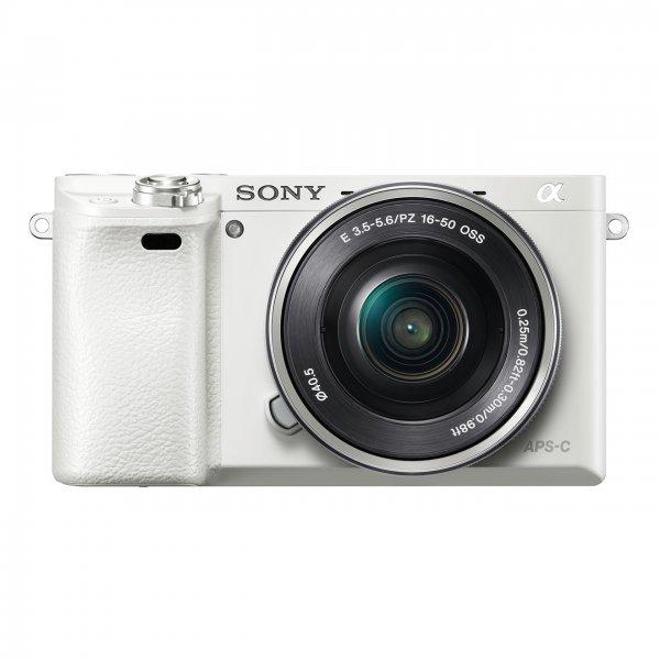 Sony A6000 weiß + Kit Objektiv 16-50mm