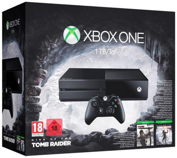 [Amazon.fr] Xbox One 1TB + Rise of the Tomb Raider + Tomb Raider: Definitive Edition für 325,14€
