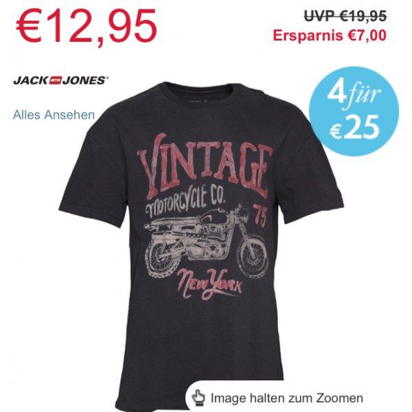 [Online M&Mdirect] (kostenloser Versand ab 45€)4 Jack&Jones Tshirts für 25€! (Einzelne auch günstiger:12,99€)