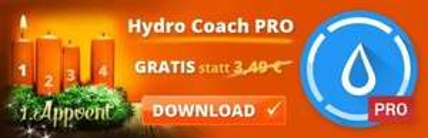 Hydro Coach Pro (Android) kostenlos - App für den Wasserhaushalt