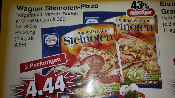 (Lokal) Wagner Steinofenpizza verschiedenen Sorten (3 Packungen) bei Edeka in Alzenau / Mömbris / Schöllkrippen Stückpreis 1,48 Euro
