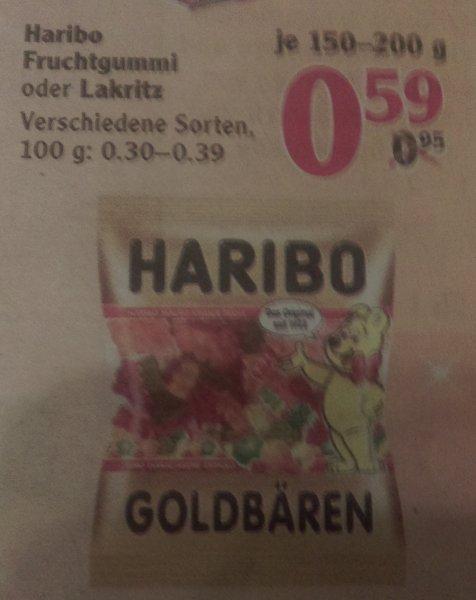 Globus Haribo Beutel 150-200 g für 0,59 Euro
