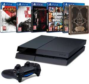 [Amazon.fr] PS4 500GB + God of War 3 + AC: Syndicate + Metal Gear Solid V + GTA V + The Evil Within für 370,44€ @Cyber Monday