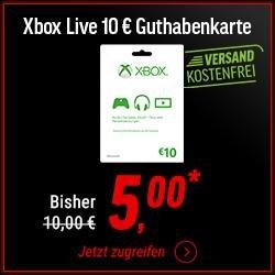 [Cyber Monday NBB] 10€ Xbox One/360 Live Guthaben für 5€ (bis 90€ für 48€ durch Trick)