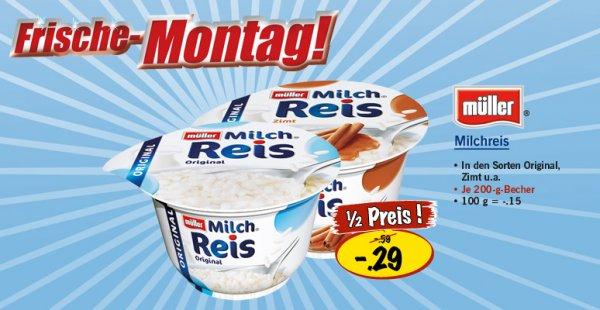 [Kaufland] Müller MilchReis versch. Sorten ab Montag für 0,29 statt 0,59 !