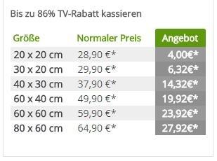 MeinFoto.de Leinwände bis zu 86% reduziert + 30% Gutschein