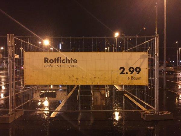 [Kaufland, bundesweit] Oh Tannebaum: Rotfichte, ganzer Baum für 2,99 €, Nordmanntannen ab 11,99 €