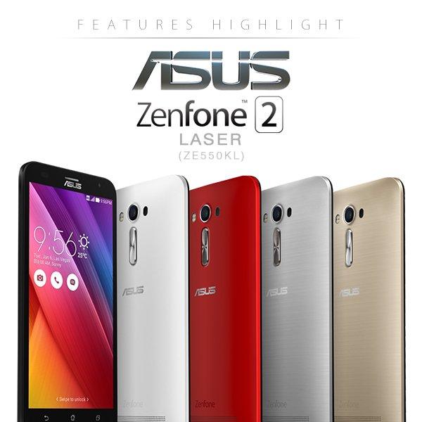"Nur heute! Asus ZenFone 2 Laser, Dual SIM LTE+LTE (5,5"" HD IPS Gorilla Glas4, Snapdragon 410, 2GB RAM, 16GB intern,  microSD b. 128GB, 13+5Megapixel Cam, 3000mAh! Akku, And 5.0 > 6.0 ( ZE550KL) für 185€ [amazon.es] Tagesdeal!"